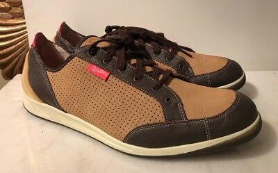 ff1b63e3604 PUMA RUDOLF DASSLER Schuhfabrik Mens Tan brown Leather Sneakers Shoes 12