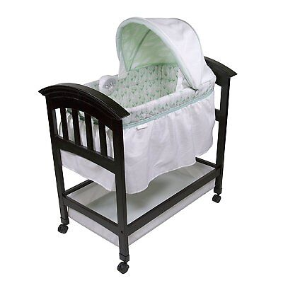 Summer Infant Classic Comfort Wood On Point Bassinet with Soothing Melodies New