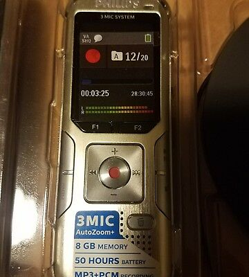 Genuine Philips Voice Tracer Digital Recorder - DVT8010 FOR MEETINGS, FREE SHIP!
