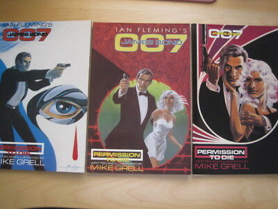James Bond : Permission To Die, Complete 3 Issue 1991 Eclipse Series. Mike Grell
