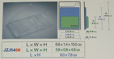 Blister Packs Display Clear Hanging Plastic Boxes Cavity Size 5.8 X 0.8 X 4.8 Cm