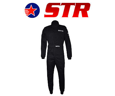 STR Graphite Pro Race Suit Double Layer SFI Approved 3.2A/5, Proban, F2 Oval