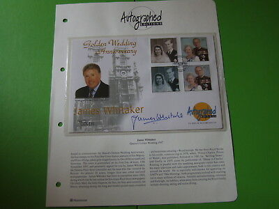 Westminster Autographed Editions Cover  Golden Wedding Signed James Whitaker