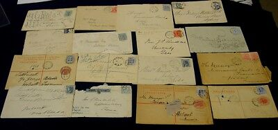 NSW  1890s-1910s covers with stamps attached - 16 items.