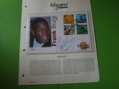 Westminster Autographed Editions Cover Signed Frank Bruno Mbe