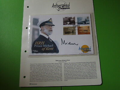 Westminster Autographed Editions Fdc Submarines Signed Prince Michael Of Kent