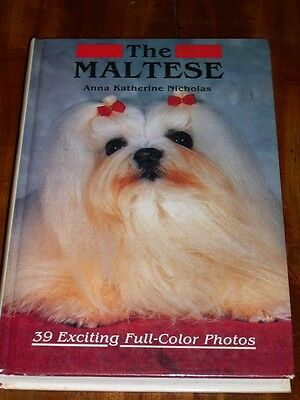 Rare Maltese Dog Book 1St 1984 By Nicholas 284 Pages Many Colour Illustrations