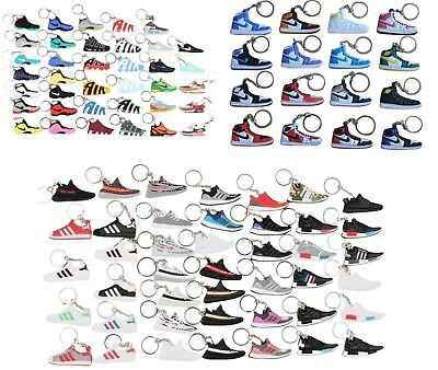 Adidas Ultra Boost Style Silicone Key Ring Shoe Trainer Sneaker Chain Superstar