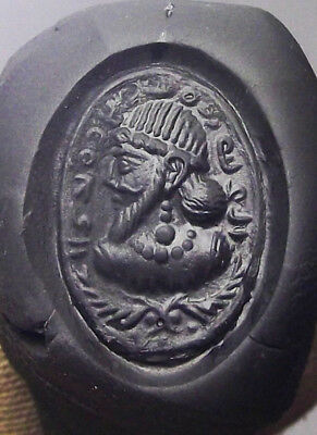SASANIAN EMPIRE. Ca. 3rd-4th Century AD, SILVER STAMP SEAL RING , HAND ENGRAVED