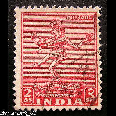 INDIA 1949 Yt IN 11 NATARAJA rojo 2 Anna Mi IN 195