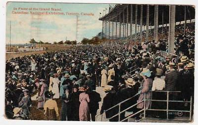 Postcard ~ GRAND STAND CANADIAN NATIONAL EXHIBITION  TORONTO ~ Antique 9500