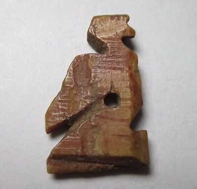 Ancient Egypt. Falcon Bone Amulet. C. 300 Bc-300 Ad. Usable Pendant. See Pics