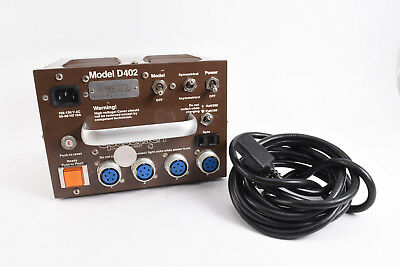 Speedotron D402 400ws Brown Line Power Pack Supply With Power Cord WORKS V49