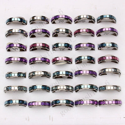 Wholesale Jewelry Lots 10pcs Mixed Resin Stainless steel Woman Man Rings FREE