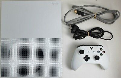 Microsoft XBox One S - 500GB White Console - With Controller & Cables