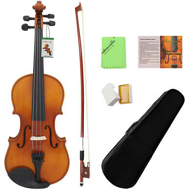 ASTONVILLA Vintage 4/4 Acoustic Violin Fiddle with Bow Rosin in Carry Case Gift