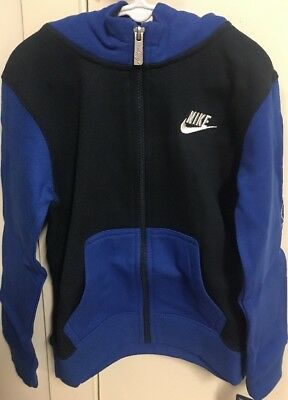 NEW Authentic Nike Boys Hoodie Jacket Jumper Boys Navy/Blue Just Do It size 4-5