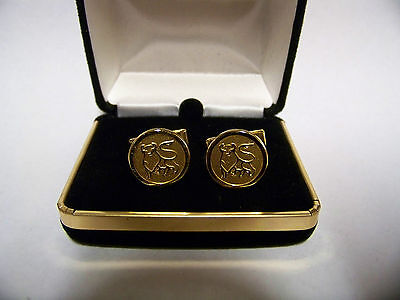 Set of MERRILL LYNCH BULL Cufflinks Gold-tone  #1