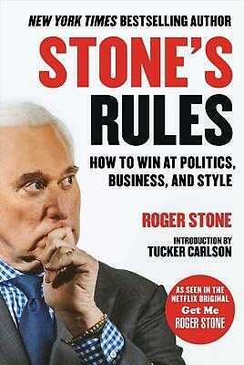 Stone's Rules by Roger Stone Hardcover Book Free Shipping!