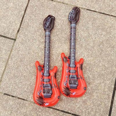 PVC Inflatable Guitar Blow Up Music Instruments Fancy Dress Party Pool Beach Toy