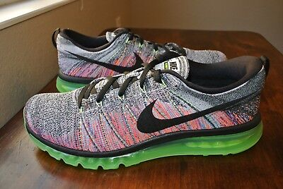 Nike Flyknit Air Max Ghost Green Black White 620469 103 Us  Mens Shoe Sz 14 Rare
