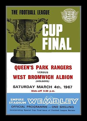 Photograph/Print/7 x 5 Photo/QPR v WBA - 1967 League Cup Final Programme Cover