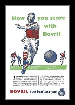 Photograph/Print/7 x 5 Photo/Vintage Bovril Football Advert - Arsenal Colours