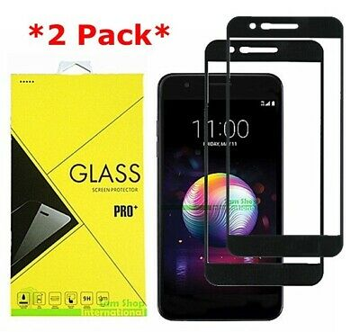 2X FULL COVER Premium Tempered Glass Screen Protector For LG K30/K10+/K10a 2018