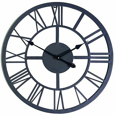 Large Outdoor Indoor Roman Numeral Wall Clock Huge Big Antique Home