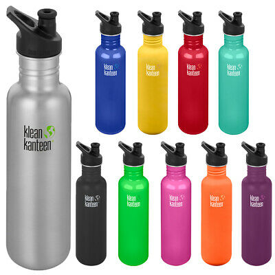 Klean Kanteen Classic 27 oz. Single Wall Bottle with 3.0 Sport Cap