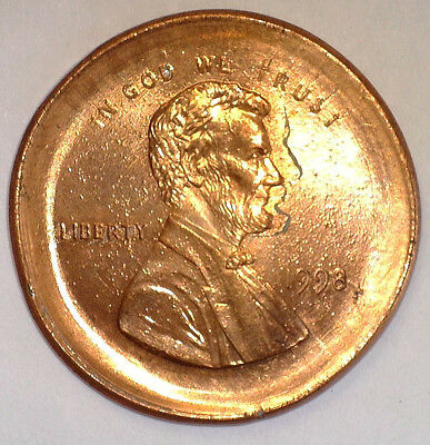1998 1¢ Huge Broadstruck & Double Struck