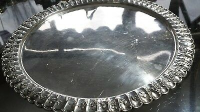 500g GERMAN 935 SILVER DESSERT TRAY 100 FLOWERS CARVING: SCHLEISSNER CATALOGUE