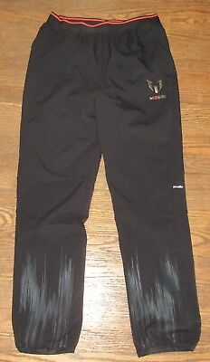 Adidas Climalite MESSI Soccer Jogger Sweat Pants Black Youth Large Lined