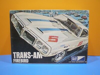 1969 PONTIAC FIREBIRD TRANS AM by MPC # 727-300 1/25 VINTAGE SCALE MODEL KIT