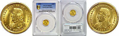 1905 Lewis and Clark $1 Gold Commemorative PCGS MS-63
