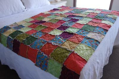 Very Pretty Handmade Patchwork Throw Bed Topper 170 x 120