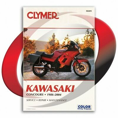 1986-2004 Kawasaki ZG1000 Concours Repair Manual Clymer M409 Service Shop