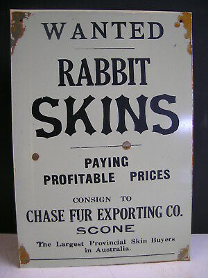 WANTED Rabbit Skins Bought  NSW Tin Sign  FREE  TRAPS DVD  FREEPOST AUSTRALIA