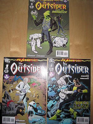 The OUTSIDER : COMPLETE 3 ISSUE FLASHPOINT SERIES. #s 1,2,3. DC.2011
