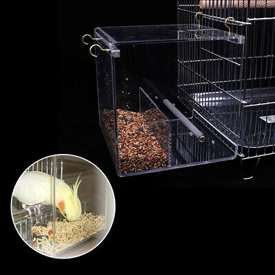 Seed No-Mess Bird Feeder Parrot Toys Canary Cockatiel Finch Tidy Corral Great