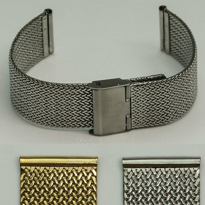 QUALITY Stainless Steel Milanese Shark Mesh Watch Strap Bracelet band 18mm-24mm