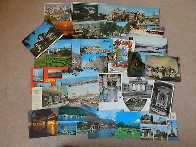 30 Old Postcards Worldwide Various Ages Posted and Unposted