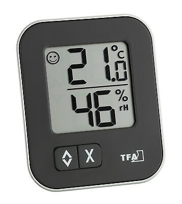 TFA 30.5026.01 Moxx Digital Thermo-Hygrometer Luftfeuchtigkeit Themperatur Black