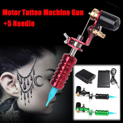 Beginner Complete Tattoo Kit Inkstar Machine Set Gun Power Supply Needles