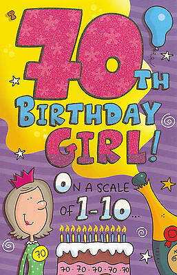 Funny Humorous 70th Birthday Card Female 70 Today