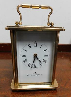 mathew norman brass cased carriage clock
