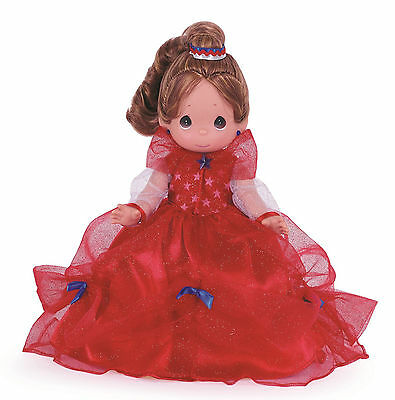 """PRECIOUS MOMENTS 12"""" Collector Doll Freedom 4th Of July Belle DISNEYWORLD"""