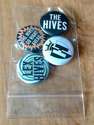 The Hives Lex Hives The Hives Go Right Ahead Pack Of 4 Promo Pin Back Buttons