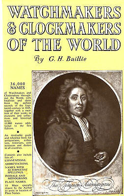 Watchmakers and Clockmakers of the World [Hardcover] by Baillie