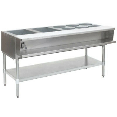 "Eagle Group 63.5"" Open Base Stainless Steel Water Bath Steam Table - LP"